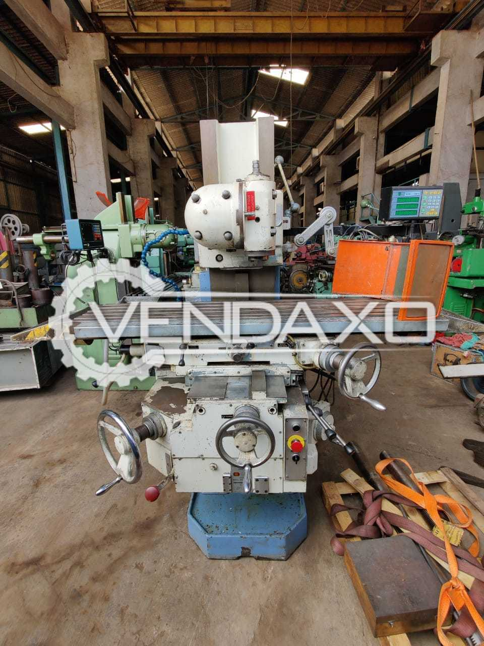 Dufour 231 Milling Machine - Table Size - 1300 x 325 mm