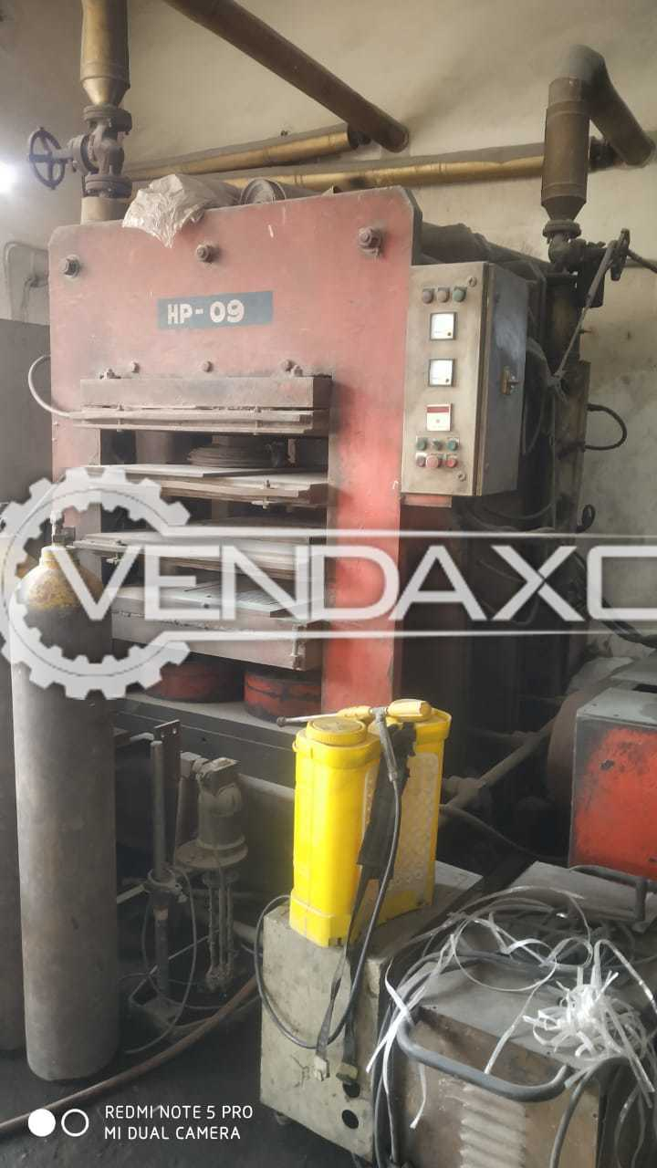 Rubber Hydraulic Press Machine - 36 X 72 Inch