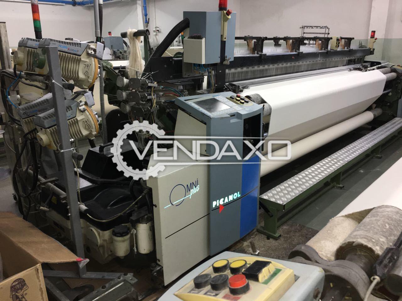 Picanol Omni Plus Airjet Loom Machine - Width - 340 CM