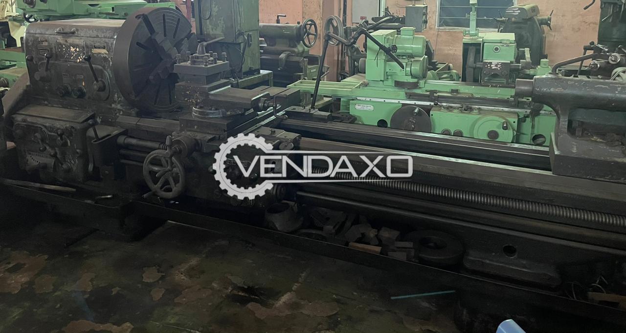 Metal Ware & Machine Tool Works MVE 340 Lathe Machine - 2000 mm