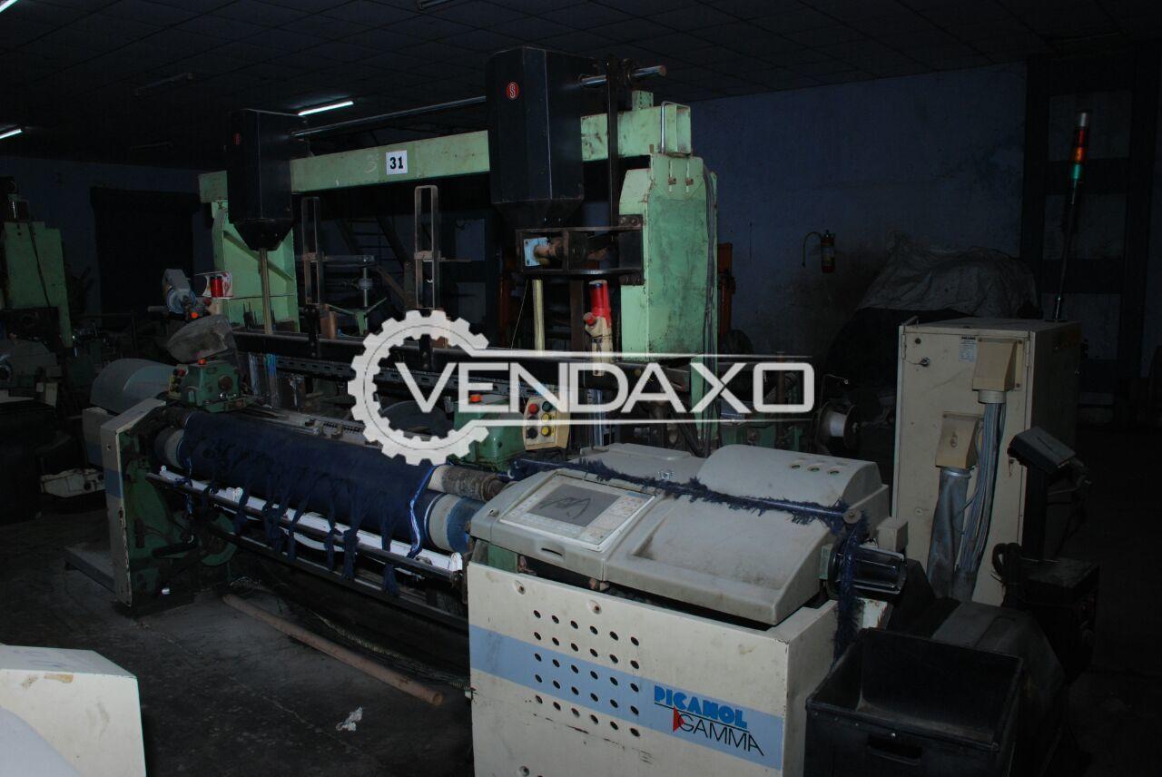 Picanol Gamma Clutch Rapier Loom Machine - Width - 190 CM