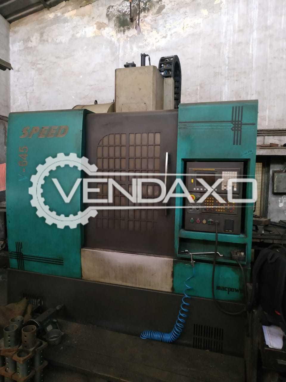 Macpower V-645 CNC Vertical Machining Center VMC - 600 x 450 x 450 mm