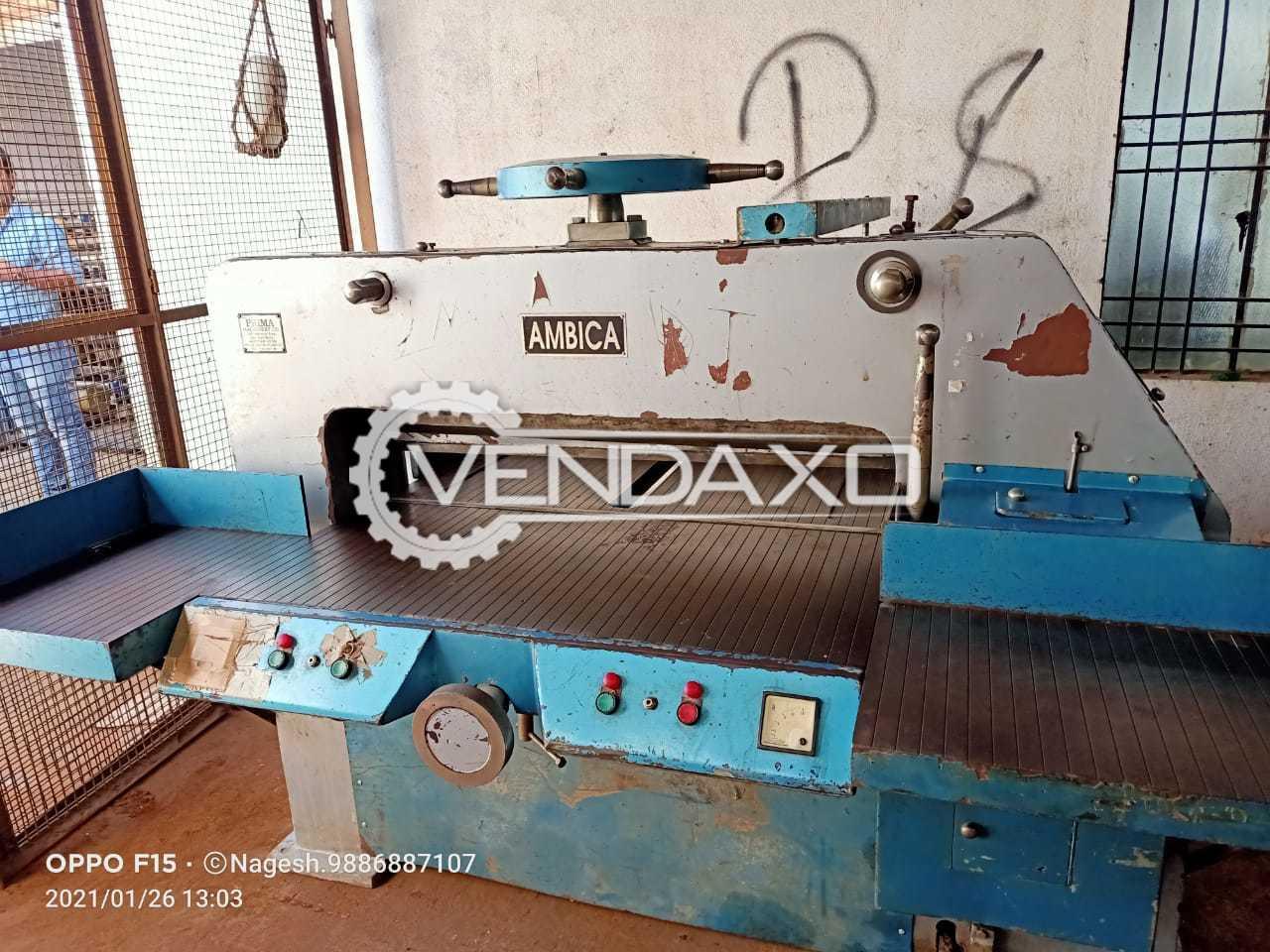 Ambica Semi Automatic Paper Cutting Machine - Size - 42 Inch