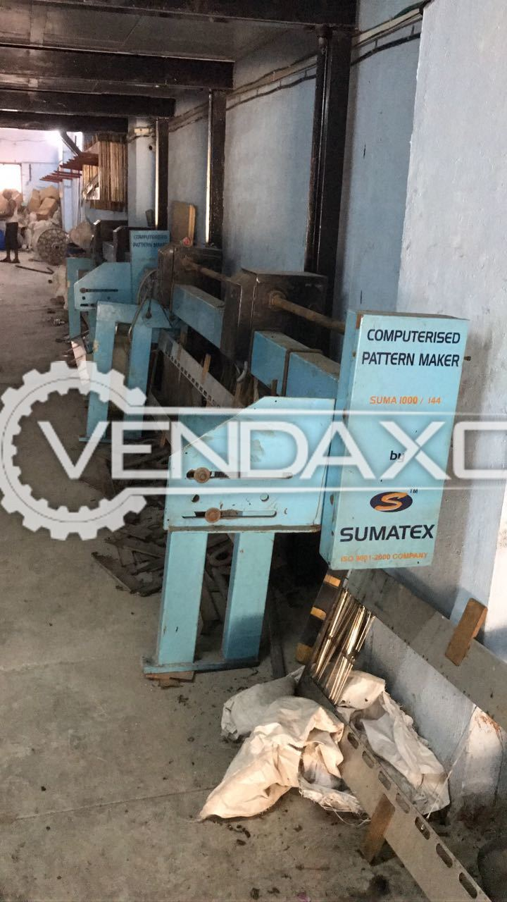 6 Set OF Sumatex Computerised Pattern Maker Namewritter  - 220 CM