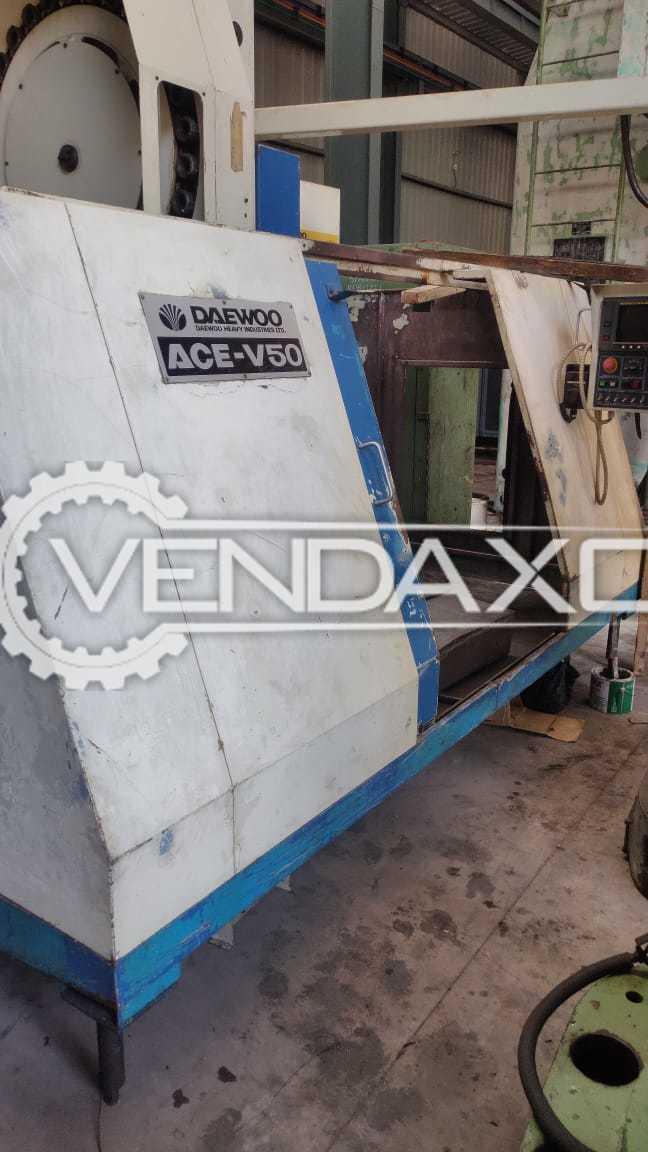 DAEWOO ACE V50 CNC Vertical Machining Center VMC - 1000 x 500 x 500 mm
