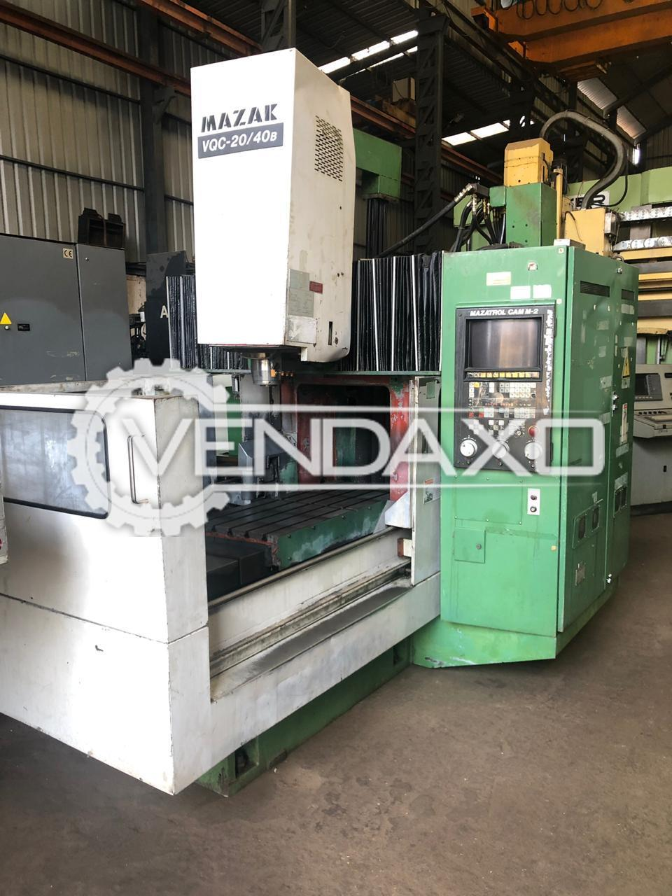 Mazak VQC-20/40B Double Column CNC Vertical Machining Center VMC - 1200 x 600 mm