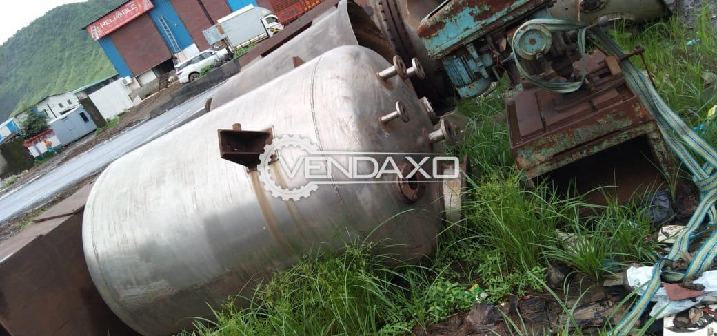 SS 316 Vacuum Receiver - 2000 Liter