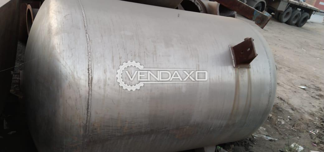 SS 316 Vacuum Receiver - 1000 Liter