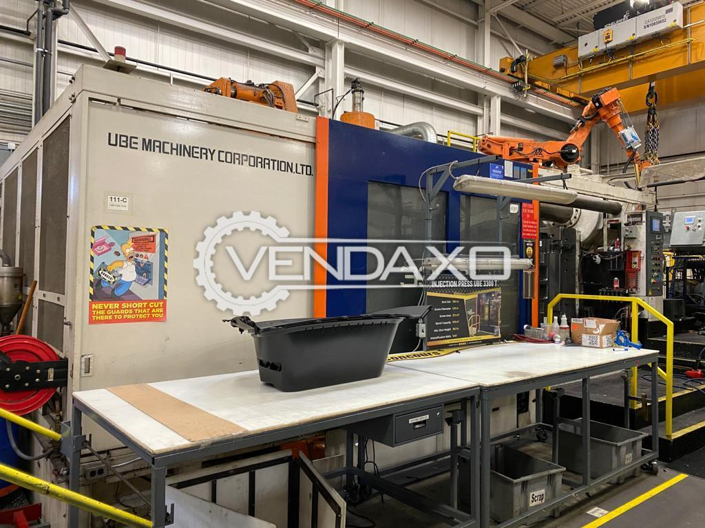 UBE 3300 USW Injection Moulding Machine - 3300 Ton