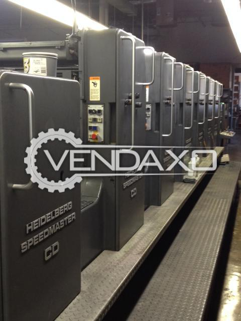 Heidelberg CD102-6+LX Offset Printing Machine - 28 x 40 Inch , 6 Color
