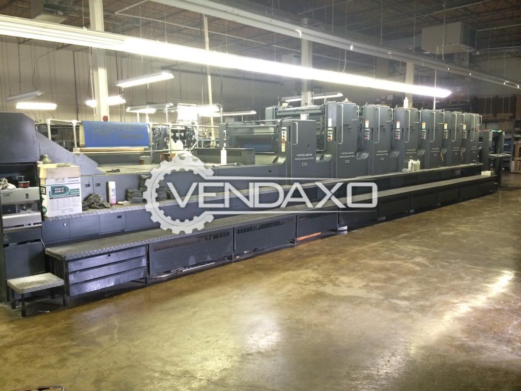 Heidelberg CD102-6+LX Offset Printing Machine - 28 x 40 Inch, 6 Color