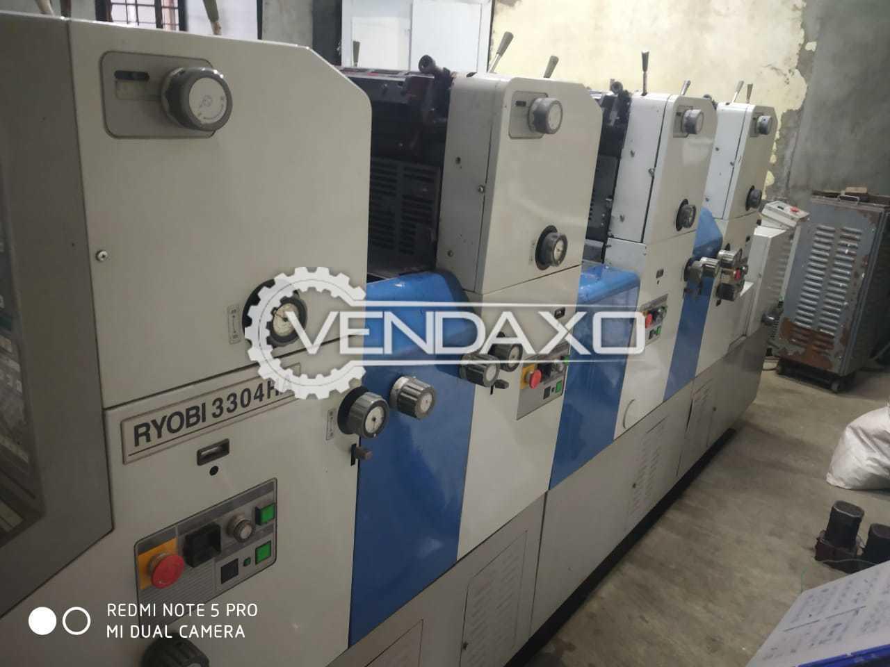 Ryobi 3304 HA Offset Printing Machine - 13 x 18 Inch, 4 Color
