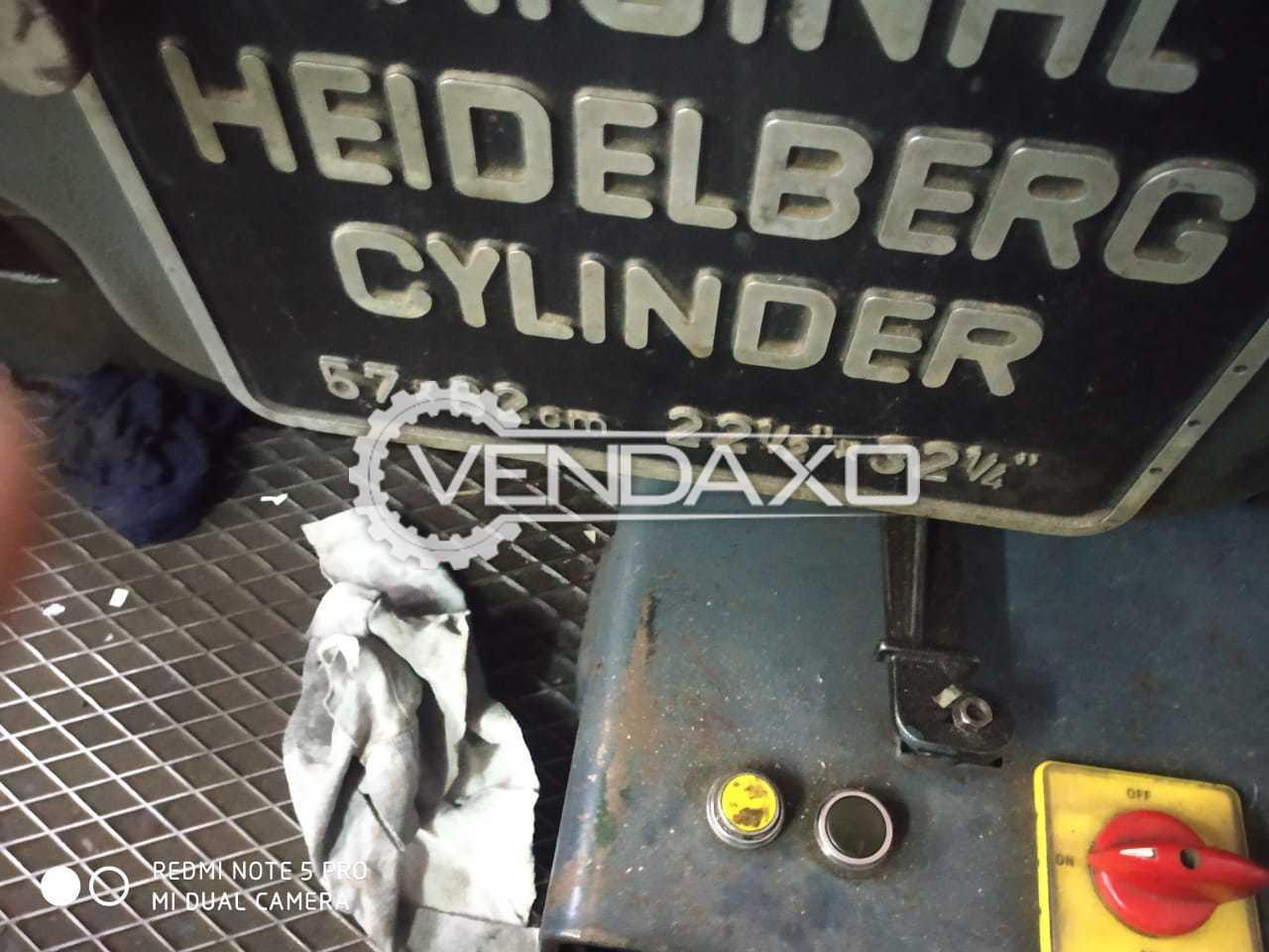 Heidelberg Cylinder Die Cutting Machine - 22 X 32 Inch