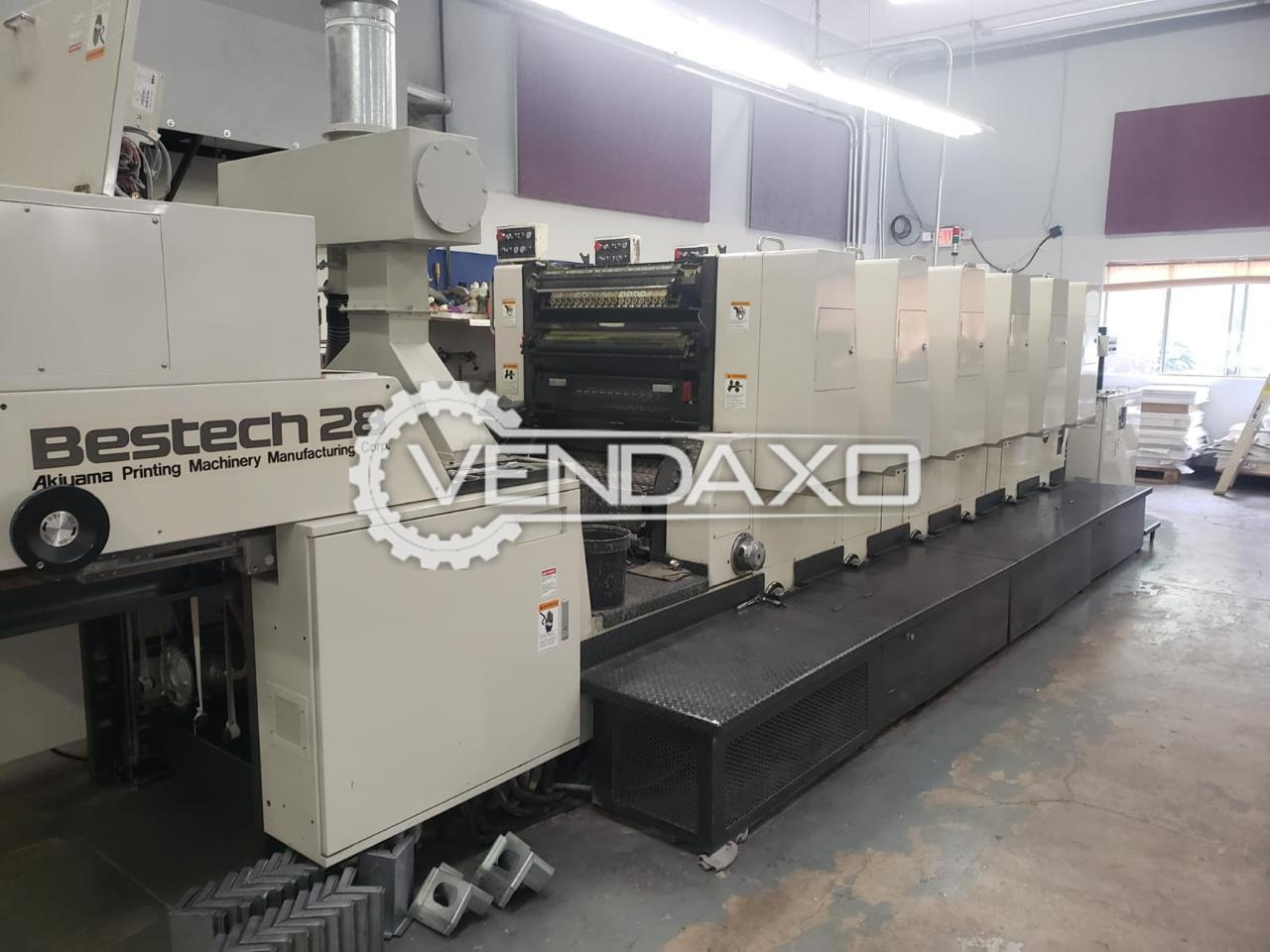 Akiyama Bestech 628BCL Offset Printing Machine - 20 x 28 Inch, 6 Color