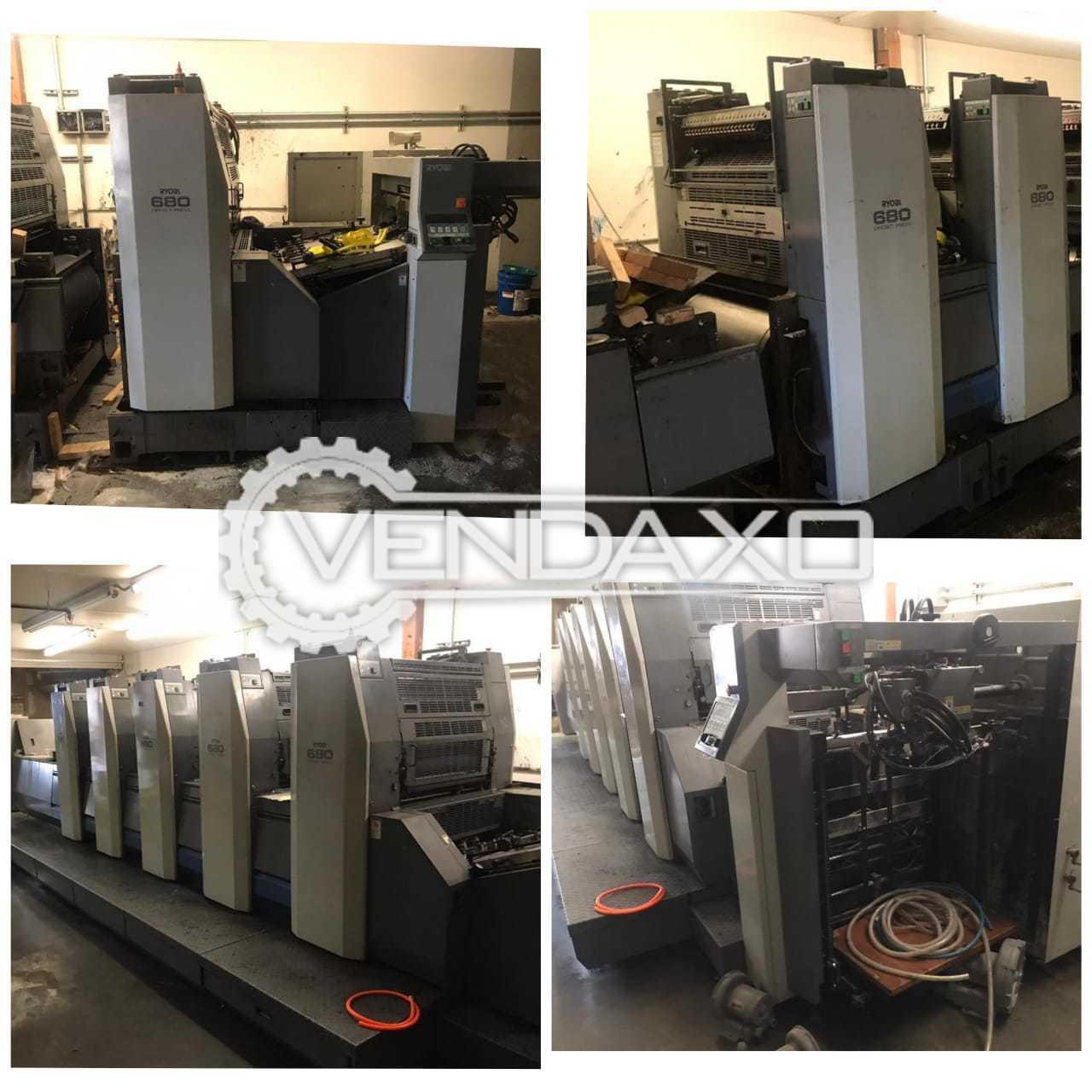 Ryobi 685 Offset Printing Machine - 19 x 26 Inch, 5 Color