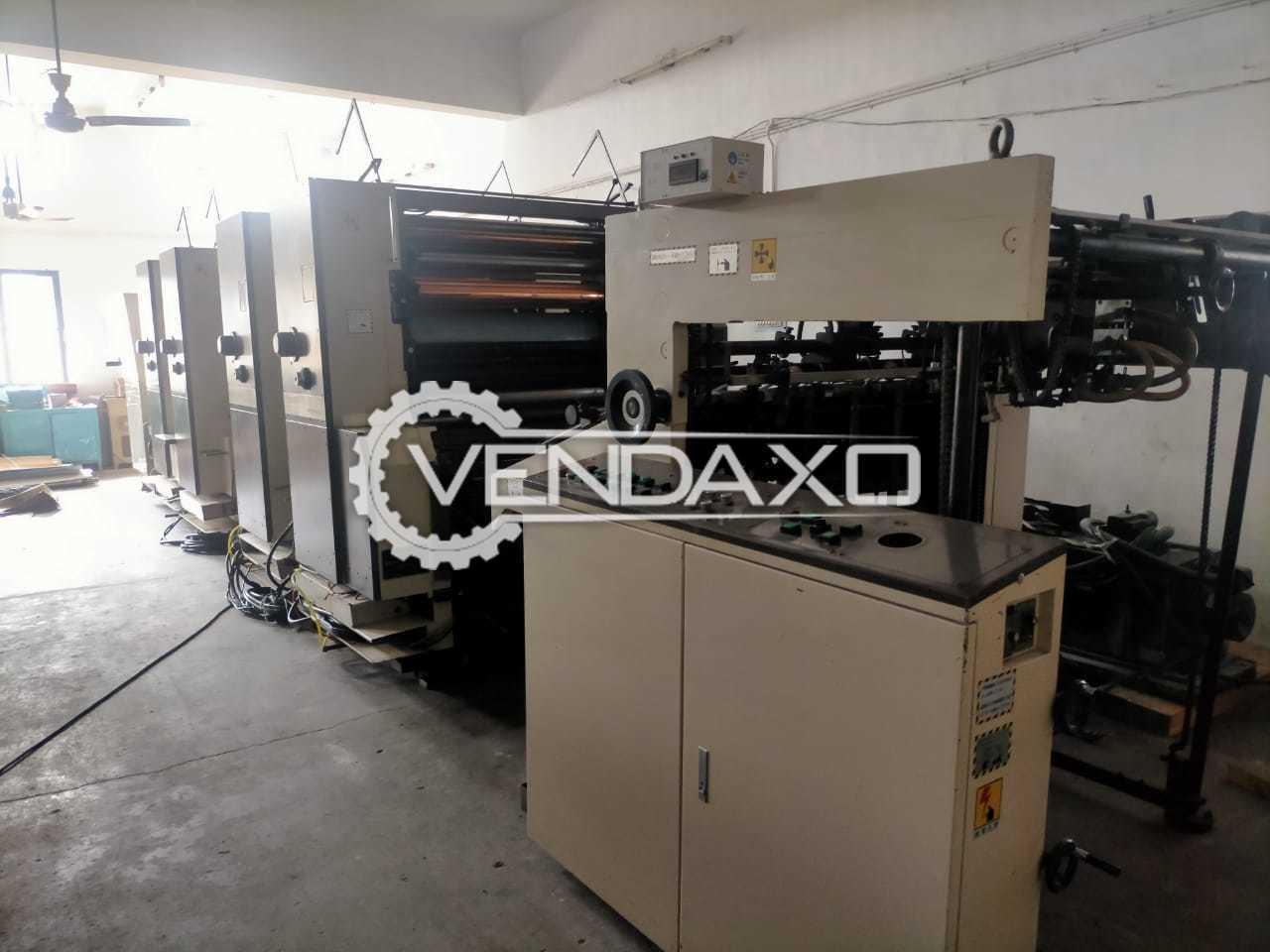 Mitsubishi Daiya 3F-4 Offset Printing Machine - 20 x 28 Inch, 4 Color