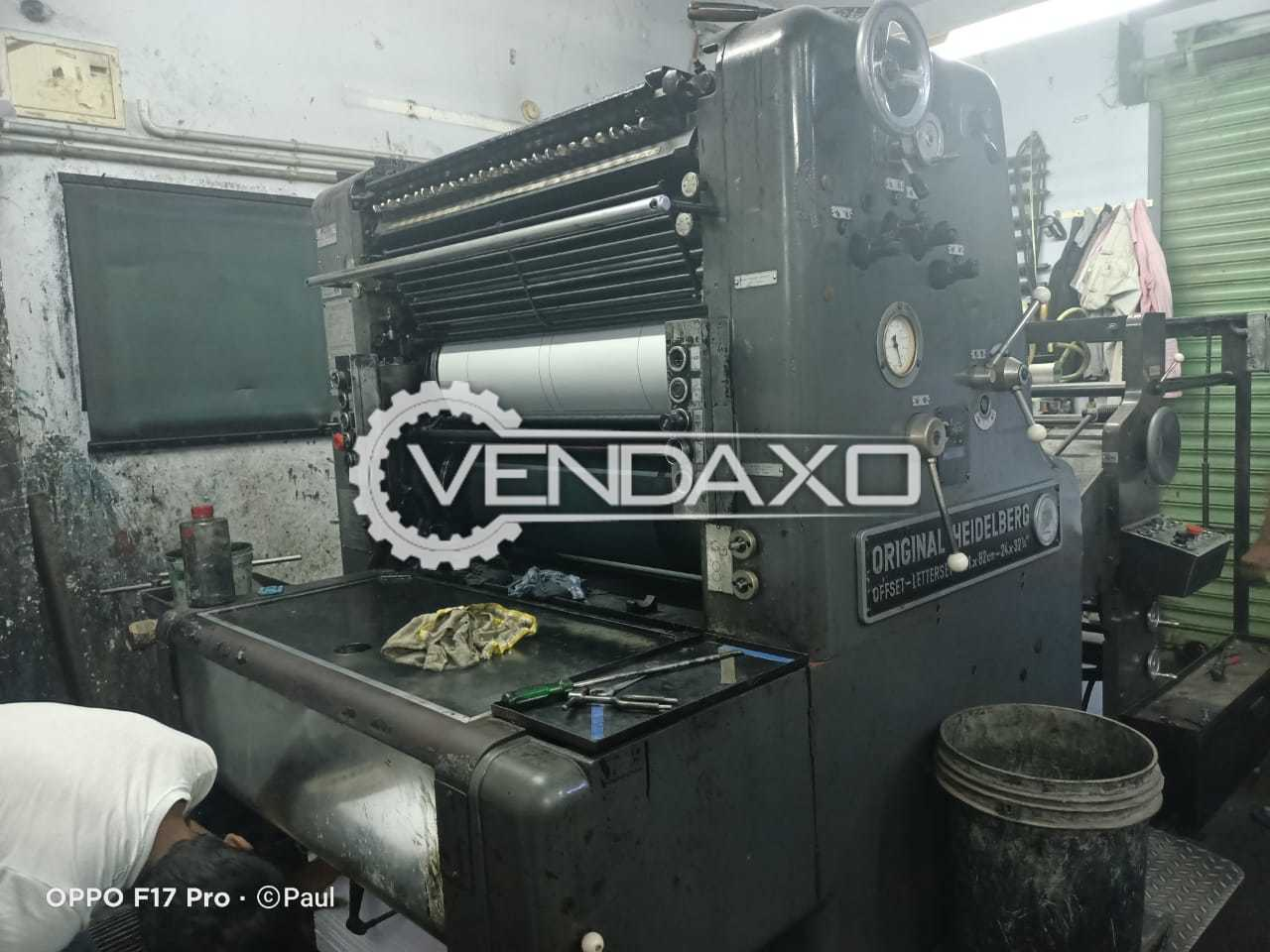 Heidelberg SOR Offset Printing Machine - 24 X 32 Inch, Single Color