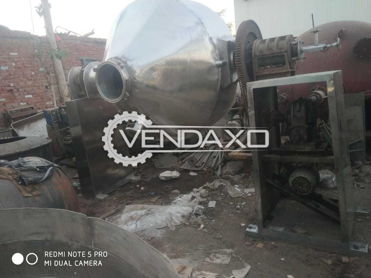 SS 316 Double Roto Cone Vacuum Dryer (RCVD) - 2500 Liter