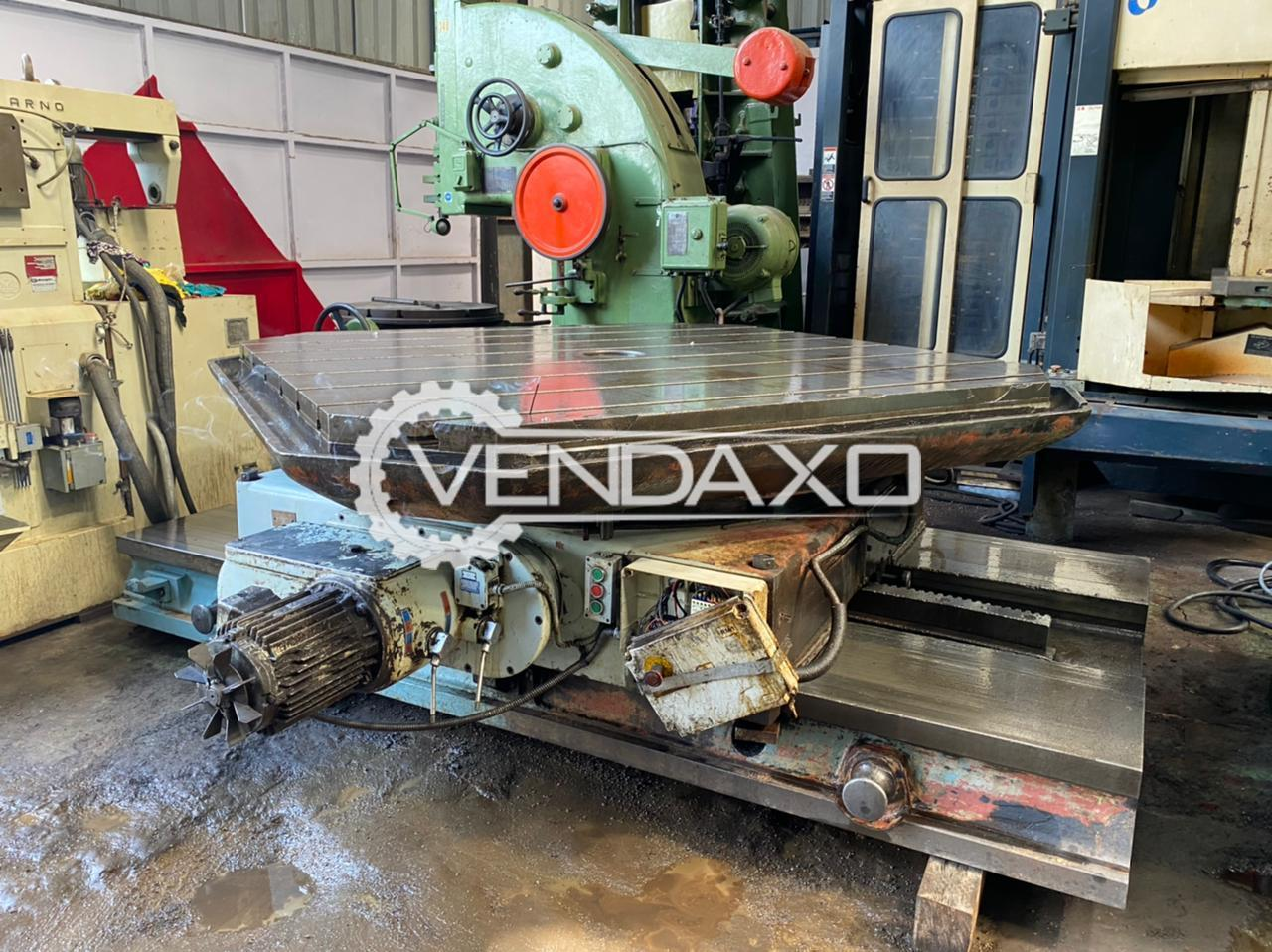 For Sale Used Skoda E20 Rotary Table - 2000 x 2000 mm
