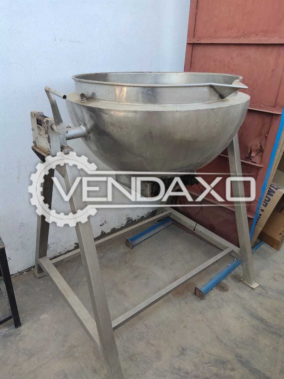 For Sale Used Paste Kettle - 100 Liter, GMP Model