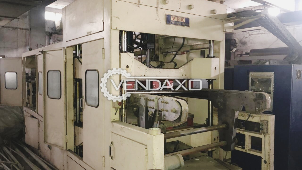 For Sale Used 2 Set Thermoforming/Vacuum Forming Machine & 1 Set Extruder Machine - 2005 Model