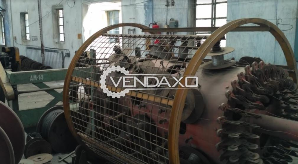 For Sale Used Stranding, Armouring & Busket Armouring Machine