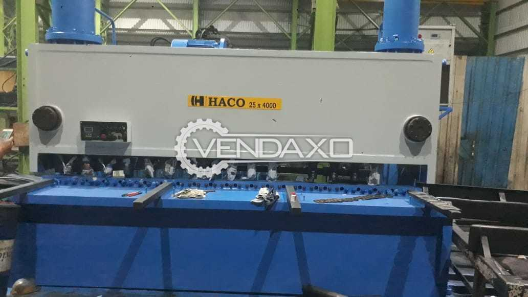 Haco Shearing Machine - 4000 x 25 mm