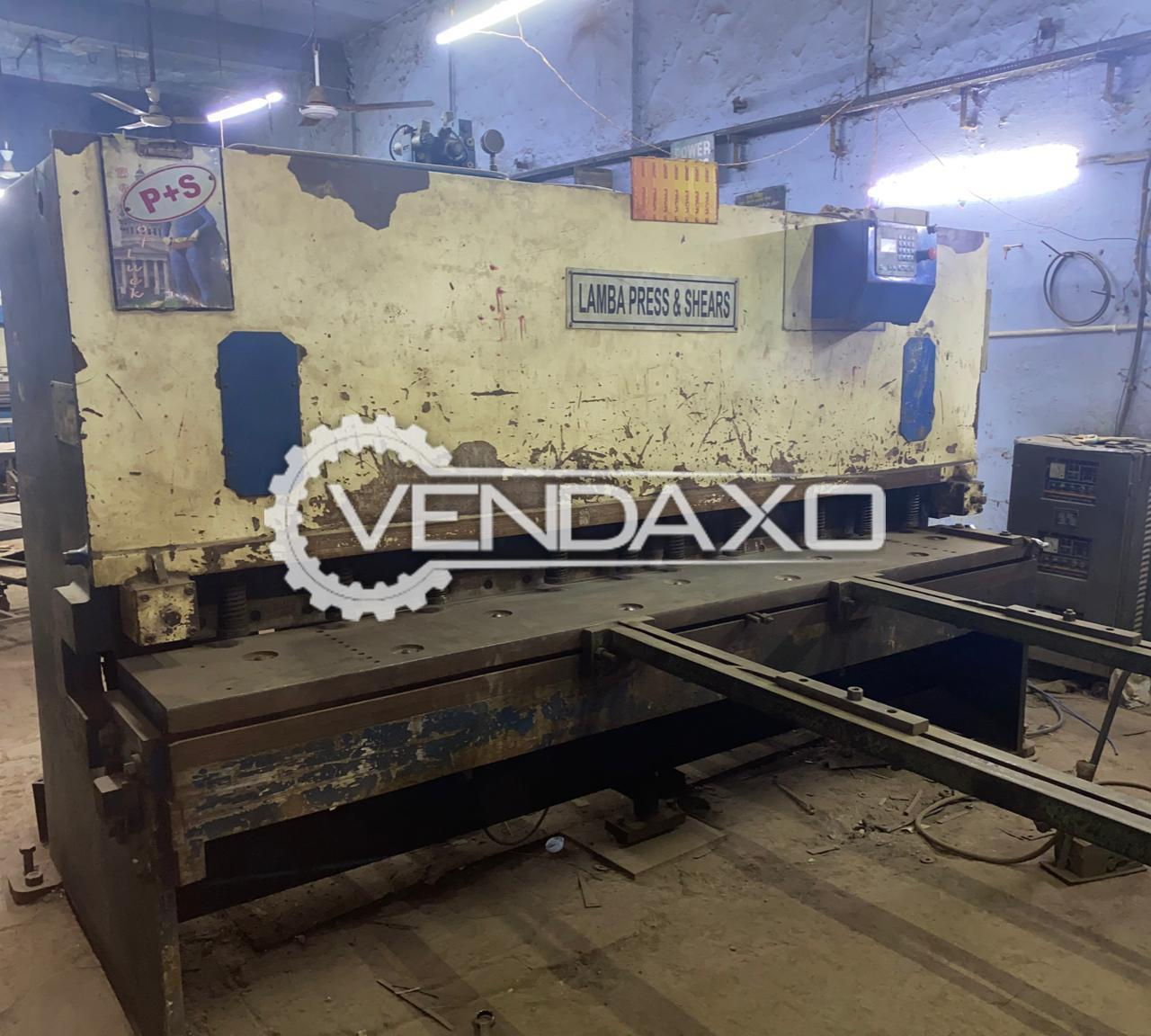 Lamba Shearing Machine - 2500 x 6 mm
