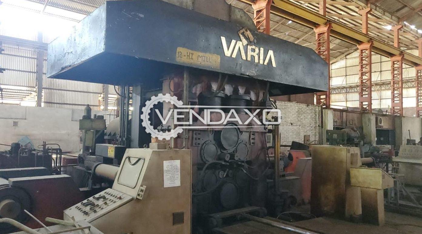 For Sale Used Varia Make 12 Hi-Mill & 20 Hi-Mill Machine - 1850 mm