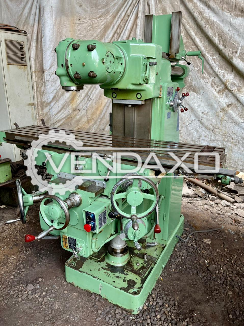 Dufour 222R Milling Machine - Table Size - 1300 x 300 mm