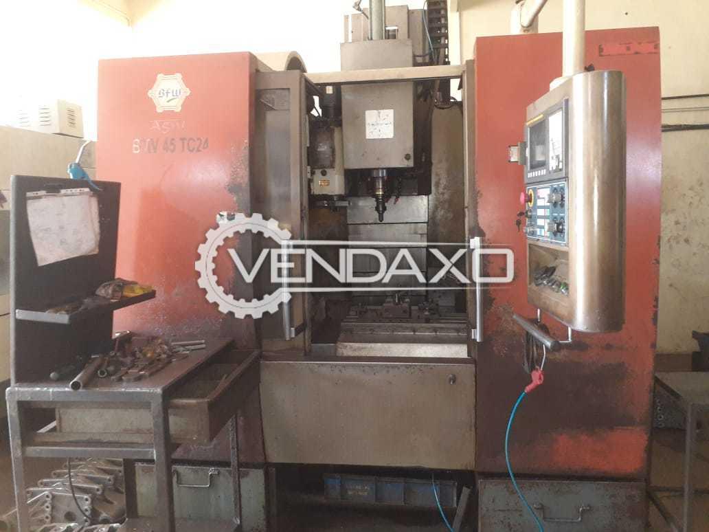 BFW Agni 45 TC 24 CNC Vertical Machining Center VMC - Table Size : 900 x 450 mm