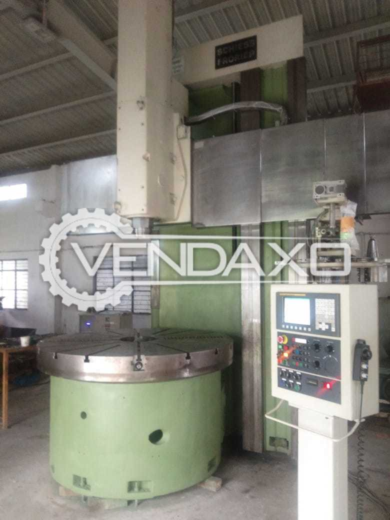 For Sale Used Single Column CNC Vertical Turret Lathe VTL - Chuck Size - 1800 mm