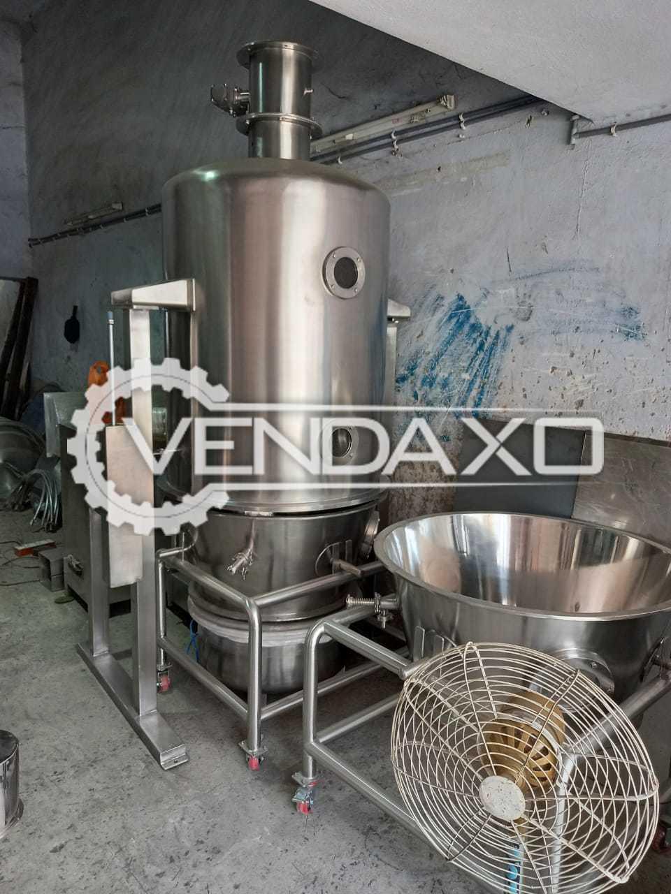 Fluid Bed Dryer (FBD) - 60 KG, GMP Model