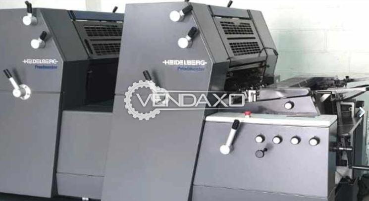 Heidelberg GTO Offset Printing Machine - 15 X 20 Inch, 2 Color
