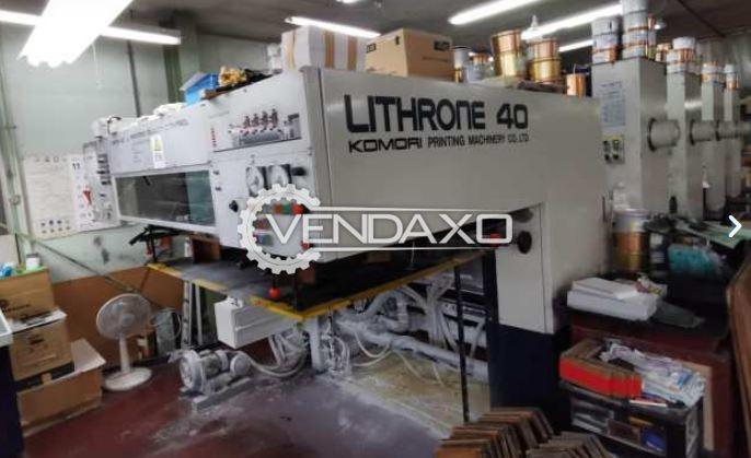 Komori Lithrone 440 Offset Printing Machine - 28 x 40 Inch, 4 Color