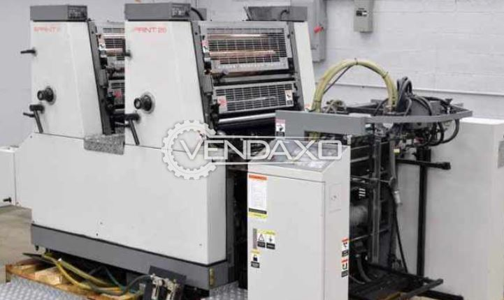 Komori Sprint 226P Offset Printing Machine - 19 X 26 Inch, 2 Color