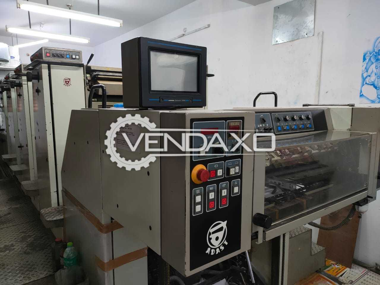 Adast Offset Printing Machine - 20 X 28 Inch, 4 Color