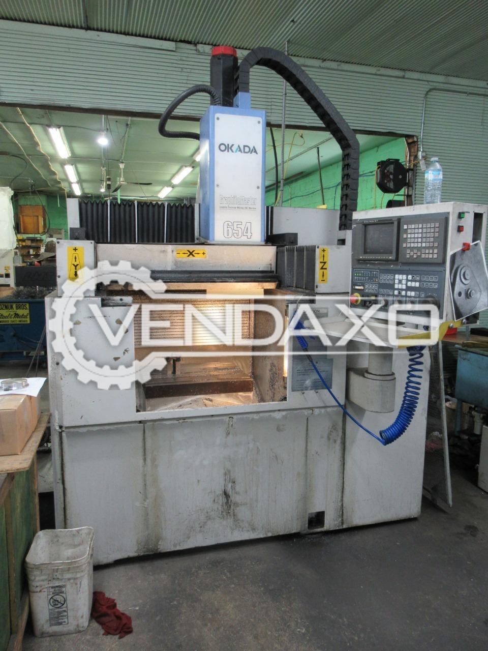 Okada GMC 654 CNC Vertical Machining Center VMC - Table Size - 600 x 500 mm