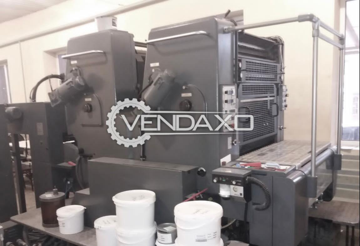 Heidelberg SORMZ Offset Printing Machine - 20 x 29 Inch, 2 Color