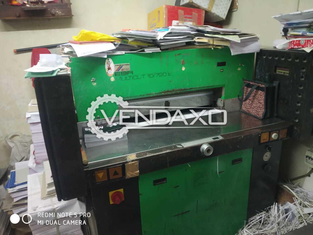EBA Multicut 10/720E Paper Cutting Machine - 720 mm