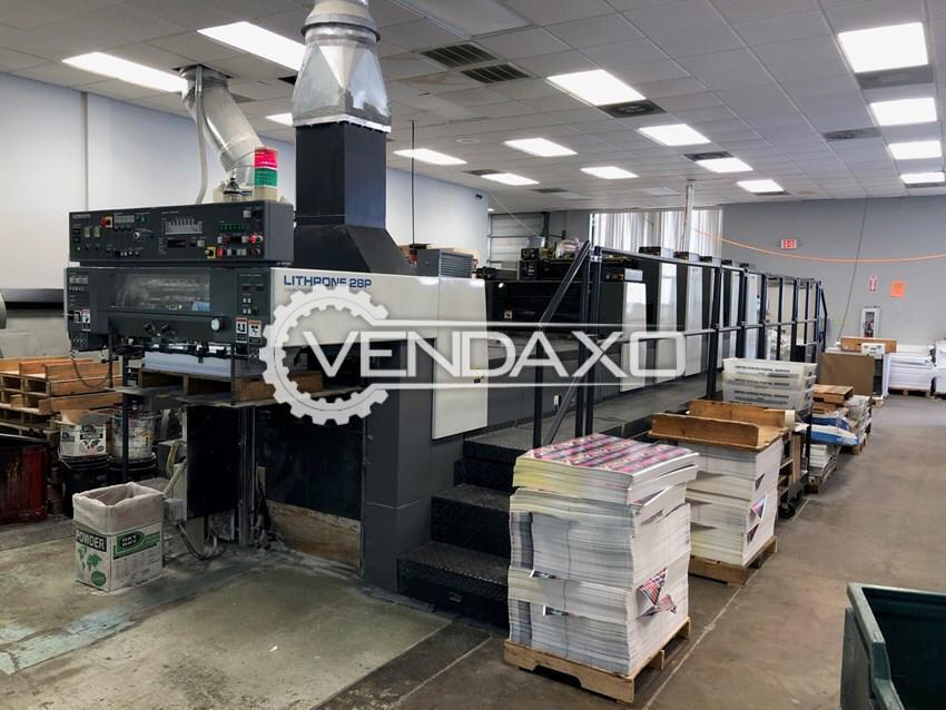 Komori Lithrone 528-P Offset Printing Machine - 20 x 28 Inch, 5 Color