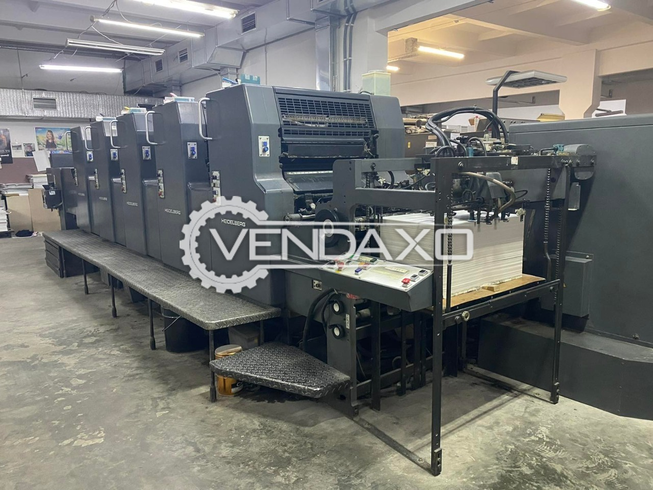 Heidelberg MOFPH Offset Printing Machine - 19 x 26 Inch, 5 Color