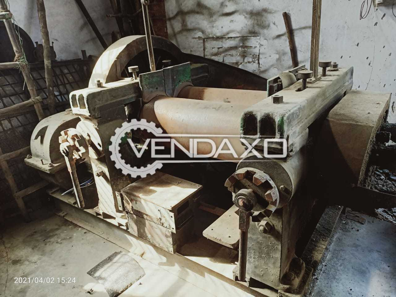 For Sale Used Rubber Mixing Mill - 36 X 14 Inch