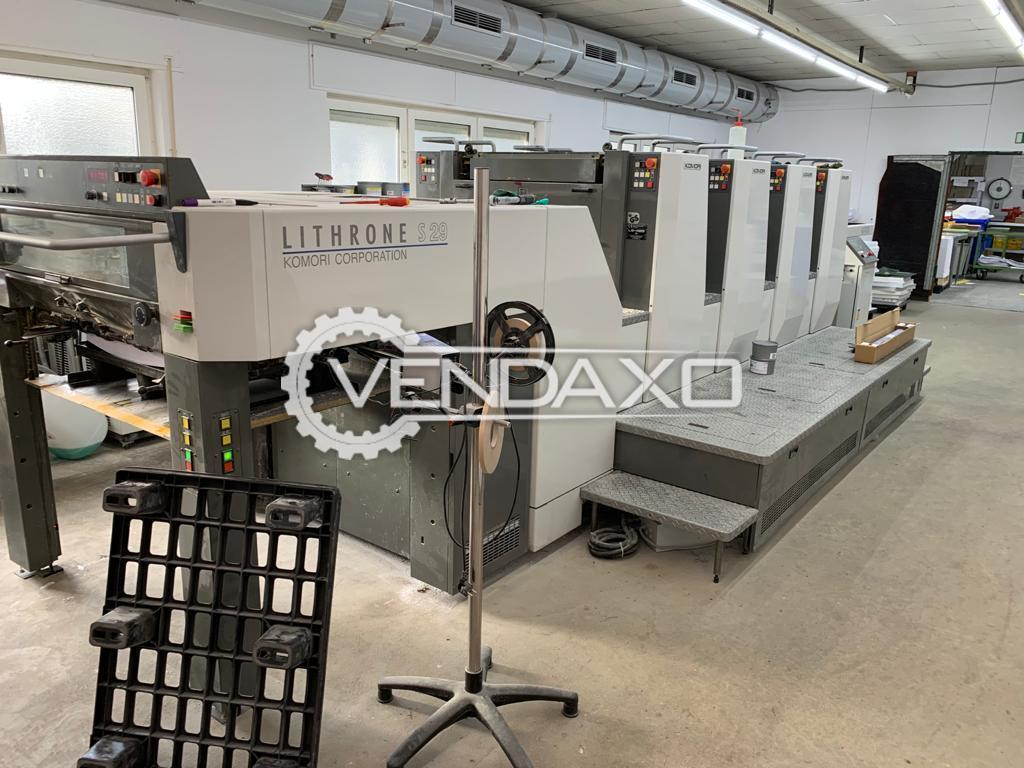 Komori Lithrone S429 Offset Printing Machine - 20 x 29 Inch, 4 Color