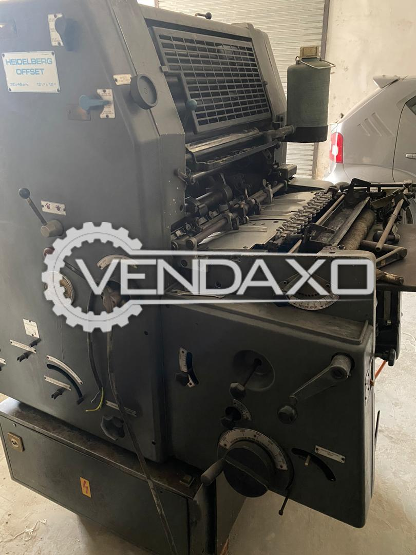 Heidelberg GTO 46 Offset Printing Machine - 12 x 18 Inch, Single Color