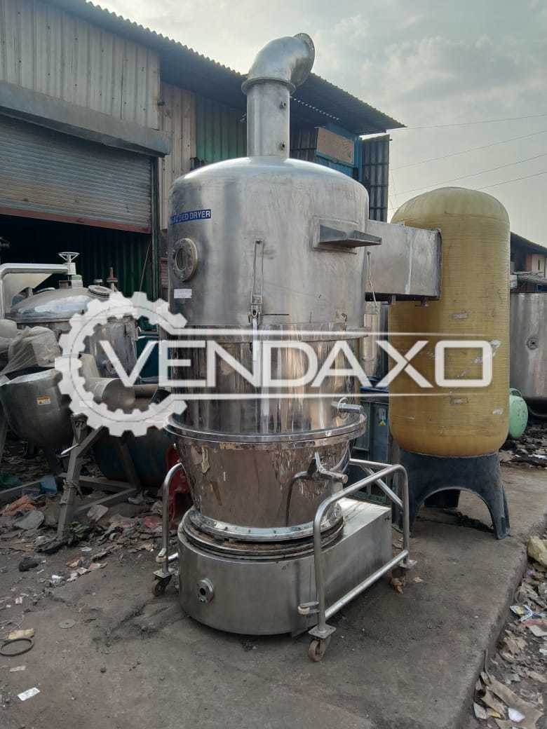 SS 316 Fluid Bed Dryer (FBD) - 60 KG, GMP Model