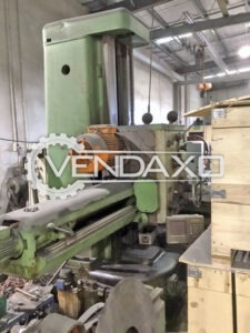 TOS W100A Horizontal Boring Machine - Table Size - 1250 x 1250 mm