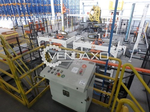 Buy New Automatic System for Palletizing, Pallet Transferring and Pallet Wrapping Palletizer
