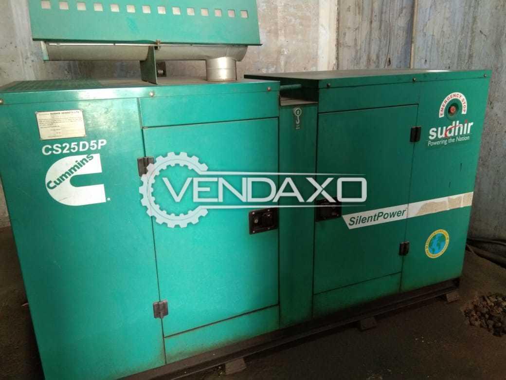Cummins Sudhir CS25D5P Diesel Generator - 25 Kva