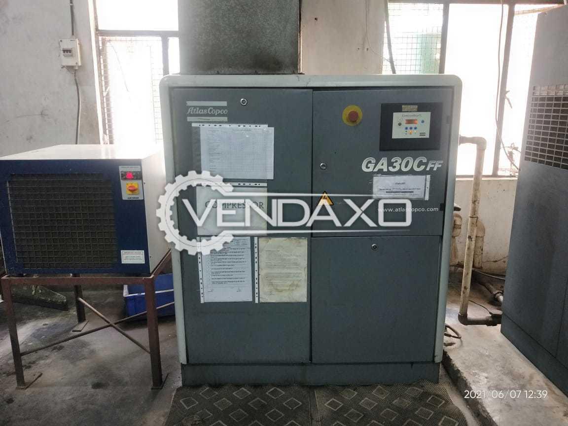 Atlas Copco GA30CFF Air Compressor - 30 KW